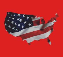 USA United States of America Flag Map Kids Clothes