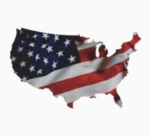 USA United States of America Flag Map by vintage-shirts