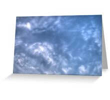 White Clouds and Sky 2 Greeting Card