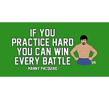 Manny Pacquiao - Practice Hard Photographic Print
