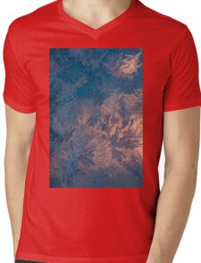 Candle light and frozen window Mens V-Neck T-Shirt