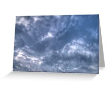 White Clouds and Sky 3 Greeting Card