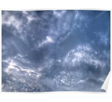 White Clouds and Sky 3 Poster