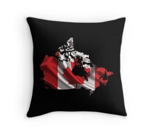 Canada Flag Map Throw Pillow