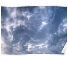 White Clouds and Sky 4 Poster
