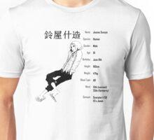Tokyo Ghoul - Juuzou Suzuya characteristics design white Unisex T-Shirt