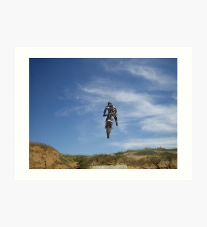 Dirt bike jump Art Print