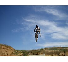 Dirt bike jump Photographic Print
