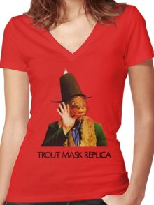 Captain Beefheart & His Magic Band - Trout Mask Replica Women's Fitted V-Neck T-Shirt