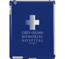 Grey Sloan Memorial Hospital Plaque iPad Case/Skin