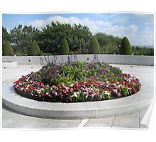 Colourful Flowerbed Poster