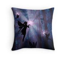 Shhhh.. Fairies working Throw Pillow