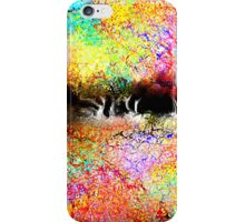 Abstract Landscape in Bright Colors iPhone Case/Skin