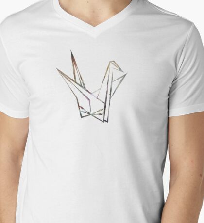 Peace Crane Mens V-Neck T-Shirt