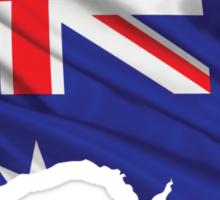 Australia Flag Map Sticker
