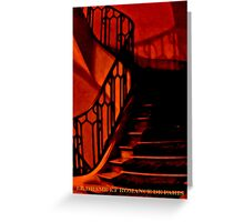 PARIS APARTMENT HOUSE STAIRS (CARD) Greeting Card