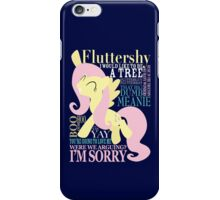 The Many Words of Fluttershy iPhone Case/Skin