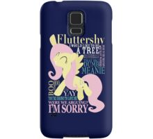 The Many Words of Fluttershy Samsung Galaxy Case/Skin