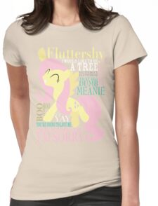 The Many Words of Fluttershy Womens Fitted T-Shirt