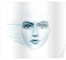 Pixel Face Poster