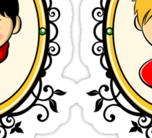 Arthur and Merlin Double Frames Sticker
