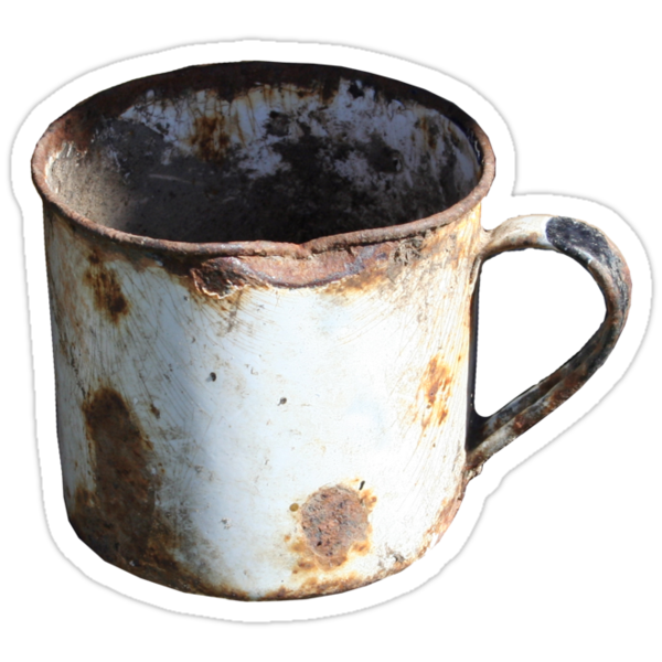 Rusty Mug by Richard Klekociuk