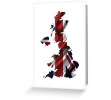 UK United Kingdom Flag Map Greeting Card