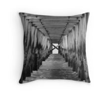 point lonsdale pier Throw Pillow