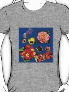 Crazy Summer Flowers Collage T-Shirt