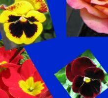 Crazy Summer Flowers Collage Sticker