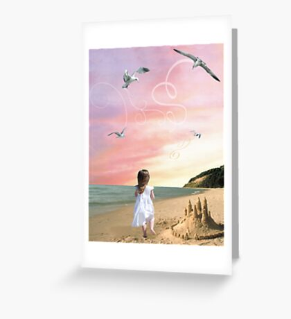 Once upon a sandcastle Greeting Card