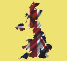 UK United Kingdom Flag Map Kids Clothes