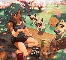 Pugs 'n' Picknick by MortMorrison