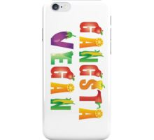 Gangsta Vegan...nothing with a face! iPhone Case/Skin