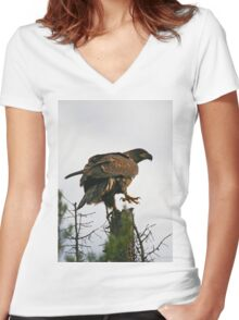 Check My Talons Women's Fitted V-Neck T-Shirt