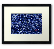 Metallic Blue Framed Print