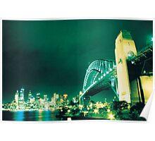 Sydney Harbour Bridge - Cross Processed Poster