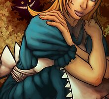 alice and chesire cat  by lubasa