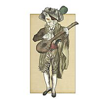 Pirate Cat Musician Photographic Print