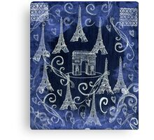 Collage of the Eiffel Tower Canvas Print
