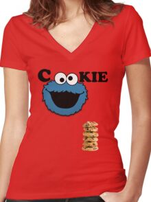Cookie Women's Fitted V-Neck T-Shirt