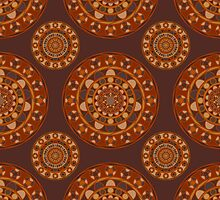 Ornamental pattern in natural wood tones. by Deanora