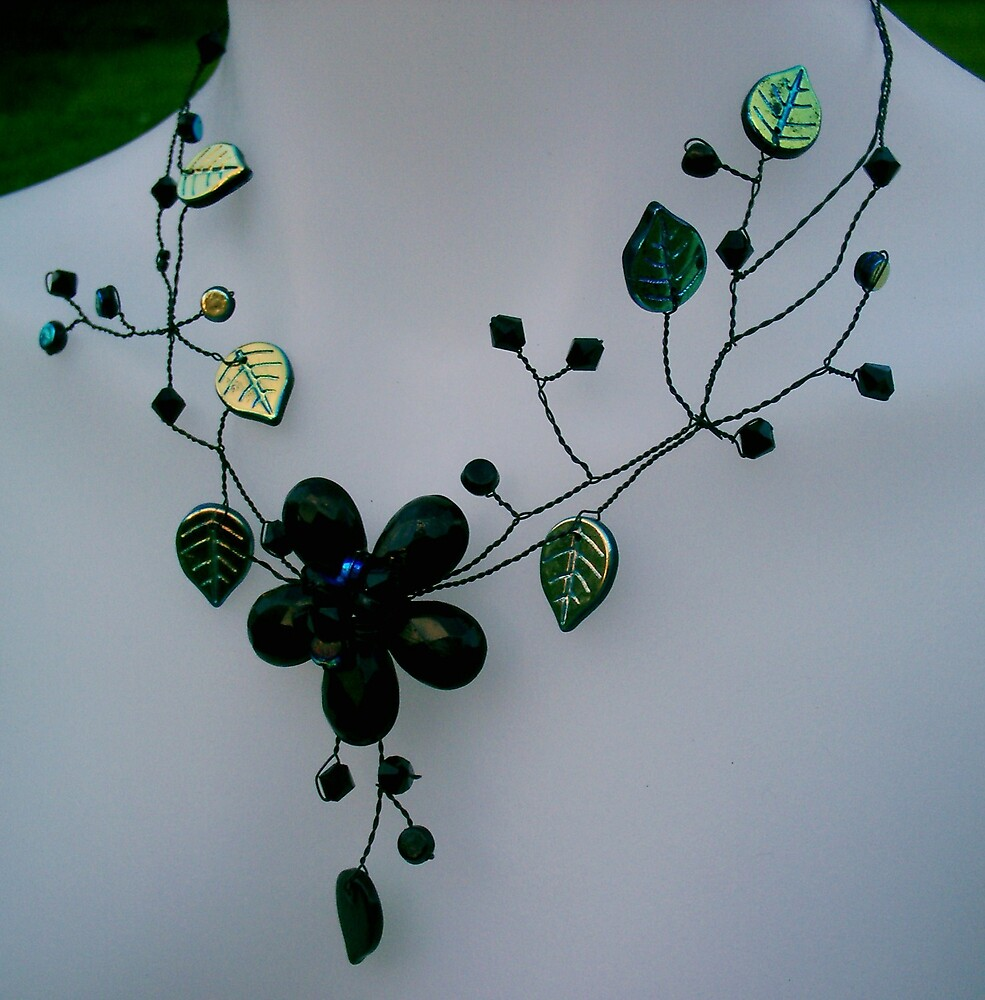 Thorn Berry Necklace  by honeyjewel