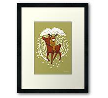 Deer Rider Framed Print