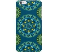 Ornamental pattern in blue and green tones iPhone Case/Skin