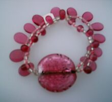 Pink Toffee Bracelet  by honeyjewel