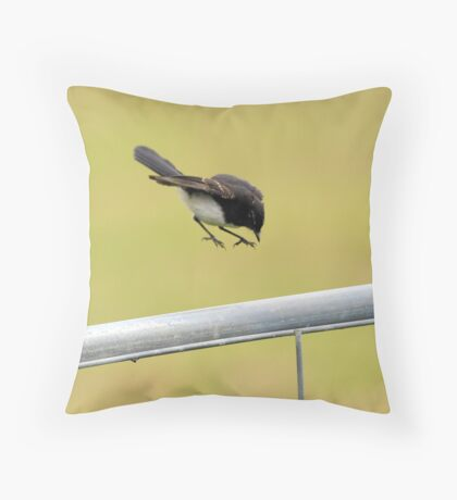 """"""" Willy Wagtail """"  Throw Pillow"""
