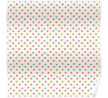 Vintage pattern with polka dots Poster