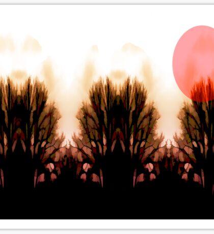 Red Sun Down on Woodland Sticker