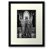 Get on your knees and pray! Framed Print